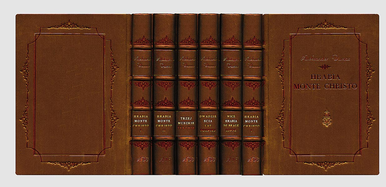 Dumas Alexandre, The Three Musketeers selected works collector's edition fine leather binding hand-made