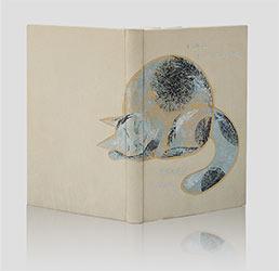 """Poświatowska, wiersze <em>""""Indeed I love - Właśnie kocham"""" — artystyczna oprawa książek, Wydawnictwo i Introligatornia Artystyczna Kurtiak i Ley w Koszalinie"""